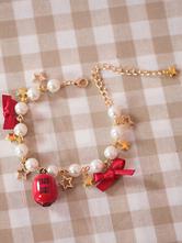 Süße Lolita Armband Perle Bogen Sterne Kette Schmuck