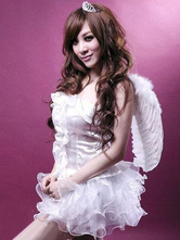 Anime Costumes AF-S2-659683 Halloween Sexy Angel Costume LoveCupid Women's White Outfit With Wings