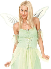 Anime Costumes AF-S2-659687 Sexy Angel Costume Halloween Women's Green Zigzag Cut Short Dress Costume Outfit