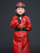 Anime Costumes AF-S2-659815 Chinese Prince Costume Halloween Royal Kids Red Robe Of Qing Dynasty