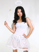 Anime Costumes AF-S2-659825 White Angel Costume Sexy Halloween Women's Costume Outfit