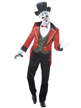 Anime Costumes AF-S2-659823 Circus Ringmaster Costume Red Halloween Men's Magician Costume