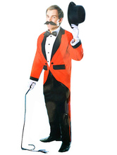 AF-S2-659821 Circus Ringmaster Costume Halloween Men's Red Lion Tamer Costume Outfit