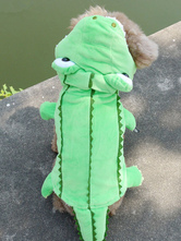 Anime Costumes AF-S2-659843 Pet Halloween Costume Green Crocodile Animal Costume For Dog And Cat