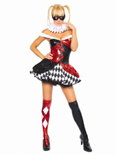 Anime Costumes AF-S2-660185 Carnival Circus Clown Costume Halloween Red Jester Fancy Dress Costume