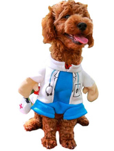 Anime Costumes AF-S2-659985 Pet Dog Cat Halloween Costume Doctor Costume Dog Clothes