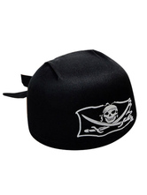 Anime Costumes AF-S2-659869 Halloween Pirate Costume Accessories Black Hat Skull Printed Men's Cap