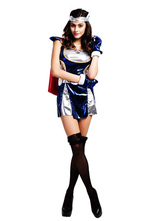 Anime Costumes AF-S2-660159 Sexy Halloween Thor Costume Blue Sexy Fantasy Costume In 3 Piece