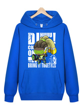 Anime Costumes AF-S2-660027 Overwatch OW Lúcio Blue Cotton Blend Hoodie Blizzard Video Game Hoodie