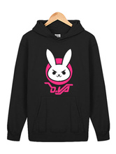 Anime Costumes AF-S2-660043 Overwatch OW D.va Rabbit Black Cotton Blend Hoodie Blizzard Video Game Hoodie