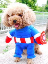 Anime Costumes AF-S2-659951 Blue Captain Dog Costume Halloween Pet Costume