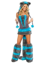 Anime Costumes AF-S2-660271 Sexy Faux Costume Blue Faux Fur Animal Costume In 5 Piece Set