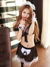 Anime Costumes AF-S2-659933 Litter French Maid Costume Bra Mini Dress Sexy Lingerie Costume