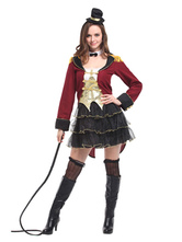 Anime Costumes AF-S2-660231 Carnival Circus Lion Tamer Costume Halloween Ringmaster Costume For Women