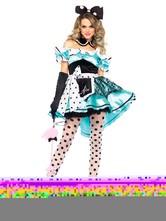 Anime Costumes AF-S2-660205 Carnival Circus Costume Blue Dress Outfits Halloween Ringmaster Costume For Women