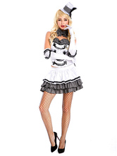 Anime Costumes AF-S2-660221 Carnival Circus Costume Women's White Costume Outfits In 5 Piece Set