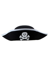 Anime Costumes AF-S2-660001 Halloween Pirate Hat Silver Skull Printed Hat For Men