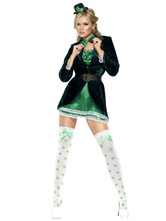 Anime Costumes AF-S2-660195 Carnival Circus Ringmaster Costume Halloween Green Lion Tamer Costume For Women