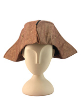Anime Costumes AF-S2-659997 Halloween Brown Pirate Hat For Men