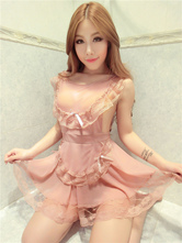 Anime Costumes AF-S2-659929 Cute Maid Costume Sexy Pink Tulle Nightwear For Women