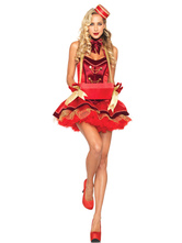Anime Costumes AF-S2-660239 Carnival Clown Costume Circus Red Halloween Costume Outfit In 3 Piece