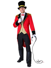 Anime Costumes AF-S2-660229 Carnival Circus Lion Tamer Costume Halloween Ringmaster Costume For Adults