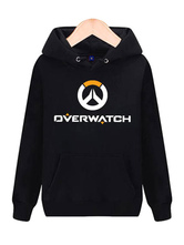 Anime Costumes AF-S2-660029 Overwatch OW Logo Black Cotton Blend Hoodie Blizzard Video Game Hoodie