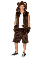 Anime Costumes AF-S2-660083 Halloween Sexy Costume Bear Men's Brown Faux Fur Cosplay Costume Outfit