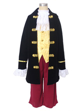 Anime Costumes AF-S2-659877 Pirate Captain Costume Halloween Kids Black Cosplay Costume Outfit