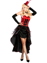 Anime Costumes AF-S2-660203 Carnival Circus Ringmaster Costume Red Magician Costume For Women