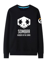 Anime Costumes AF-S2-660035 Overwatch OW Sombra Black Cotton Blend Hoodie Blizzard Video Game Hoodie