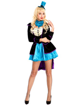Anime Costumes AF-S2-660225 Carnival Circus Costume Black Halloween Ringmaster Costume