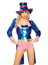 Anime Costumes AF-S2-660243 Carnival Circus Costume Blue Outfits Halloween Ringmaster Costume