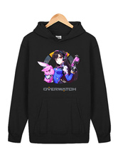 Anime Costumes AF-S2-660041 Overwatch OW D.va Black Cotton Blend Hoodie Blizzard Video Game Hoodie