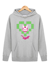 Anime Costumes AF-S2-660039 Overwatch OW D.va White Cotton Blend Hoodie Blizzard Video Game Hoodie