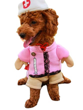 Anime Costumes AF-S2-659983 Nurse Pet Costume Standing Pink Dog Clothing Sexy Nurse Uniform With Hat