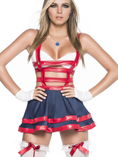 Anime Costumes AF-S2-660087 Halloween Sailor Costume Sexy Women's Red Cut Out Mini Skirt Costume Outfit