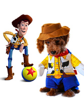 Anime Costumes AF-S2-659969 Yellow Cowboy Sheriff Pet Costume Dog Clothing