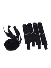 Anime Costumes AF-S2-660127 Sex Bondage Restraints Black Bed Cuffs SM Role Play Flirt Tools