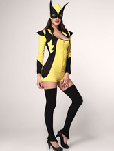 Anime Costumes AF-S2-660171 Sexy X-Men Costume Halloween Yellow Fantasy Costume