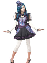 Anime Costumes AF-S2-660209 Carnival Clowns Costume Circus Purple Broken Doll Clowns Costume For Women