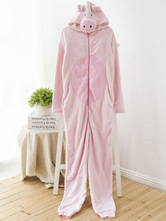Anime Costumes AF-S2-660357 Kigurumi Pajamas Pig Oneise Pink Polar Fleece Long Sleeve Sleepwear For Adults