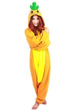 Anime Costumes AF-S2-660367 Kigurumi Pajamas Plant Carrot Costume Orange Polar Fleece Long Sleeve Sleepwear Costume For Adults