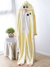 Anime Costumes AF-S2-660365 Kigurumi Pajamas Chicken Onesie Yellow Polar Fleece Long Sleeve Sleepwear For Adults