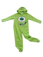 Anime Costumes AF-S2-660371 Kigurumi Pajamas Monsters University Mike Onesie Green Flannel Long Sleeve Sleepwear Costume For Adults