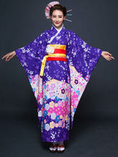 Anime Costumes AF-S2-660399 Halloween Japanese Costume Asian Costume Women's Purple Kimono