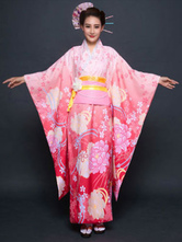 Anime Costumes AF-S2-660401 Halloween Japanese Costume Asian Costume Women's Pink Kimono