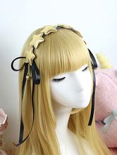 Sweet Lolita Headband Gold Star Ribbons Lolita Headpieces