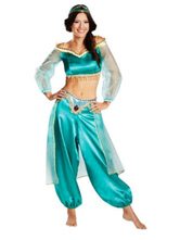 Anime Costumes AF-S2-661311 Arabian Princess Costume Halloween Women's Green Outfit Asian Costume