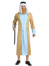 Anime Costumes AF-S2-661315 Arabian Night Costume Halloween Men's Gown With Headband